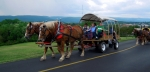 The wagon train heads west on the National Road