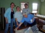 Dorothy Moyta, Kathy Moyta and Michelle Martin worked with Sr. Martha Moyta in Trinity Center