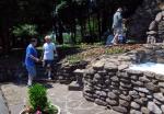 Volunteers Frank, Bob and Steve with Sr. Elizabeth Jane