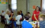 Volunteers break for lunch