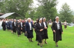 Sisters process to Lourdes Grotto