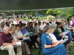 Pilgrims at Saturday Divine Liturgy