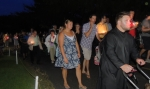 Candlelight Procession from the cemetery
