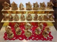 Small Nativity sets carved from olive wood