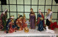 One of our many larger Nativity sets
