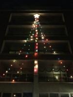 Monastery Exterior Christmas Tree